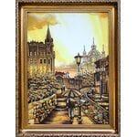 Картини з бурштину на яких зображені міста, вулиці, будинки, замки, пам'ятники архітектури