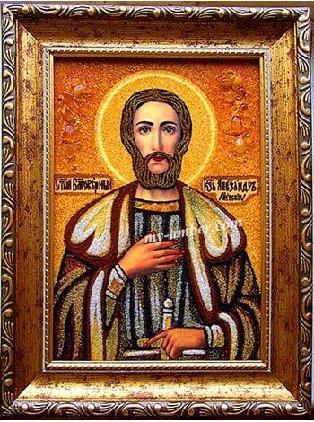 ОЛЕКСАНДР №2. Ікона з бурштину