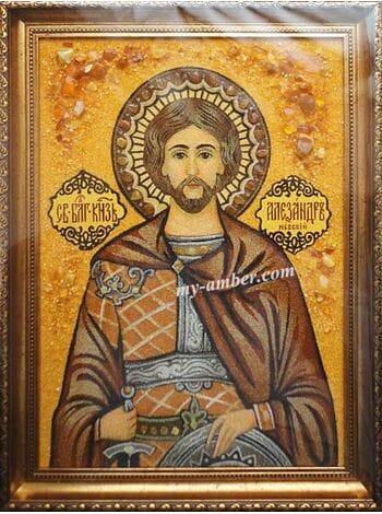 Ікона Олександр з бурштину.