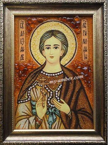 ОЛЕКСАНДР №4. Ікона з бурштину