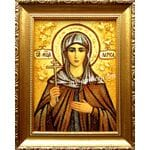 Іменні ікони для жінок,Ікони з бурштину