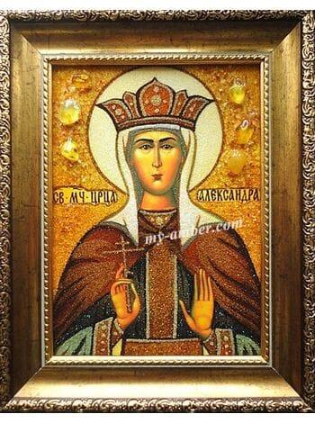 ОЛЕКСАНДРА. Ікона з бурштину