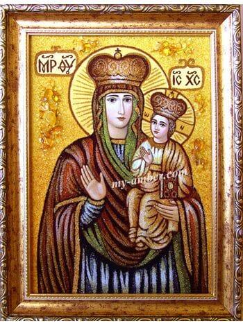 """Ікона з бурштину """"Зарваницька Богородиця"""