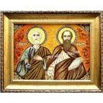 Іменні ікони з бурштину